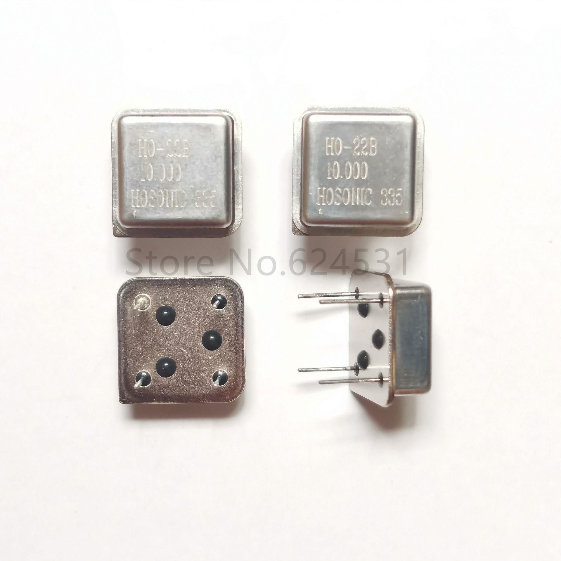 10pcs In-line Active Crystal Oscillator Clock Square Half Size DIP-4 OSC 10MHZ 10.000MHZ 10M