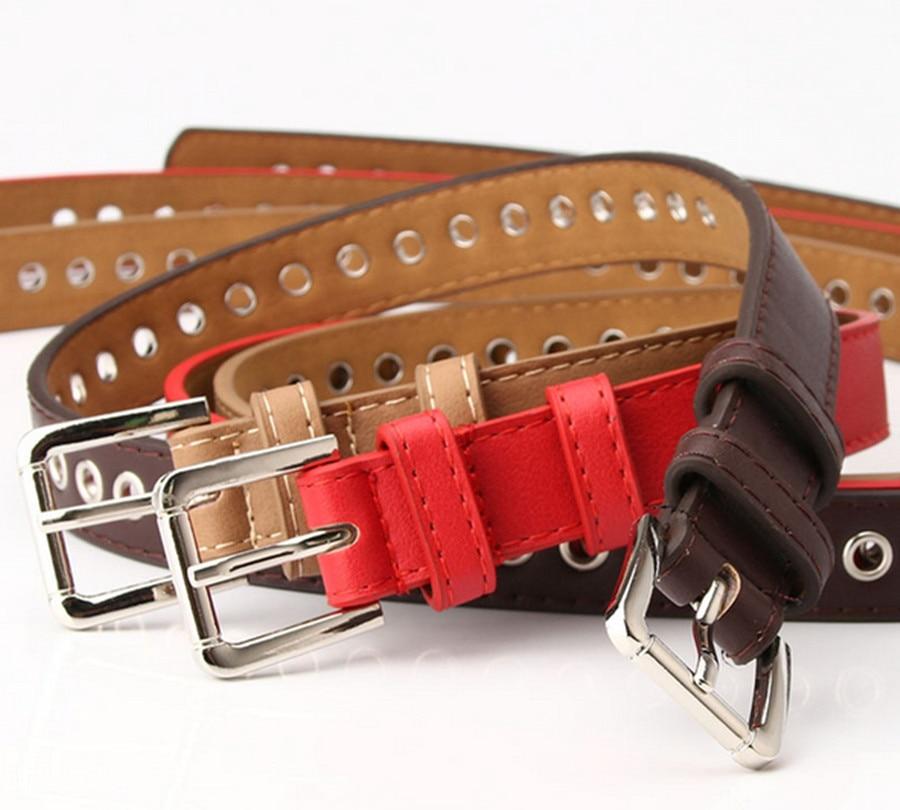 2020 New Metal Whole Gas Eye Belt Ladies Belt Free Punching Korean Wild Fashion Hollow Decorative Belt