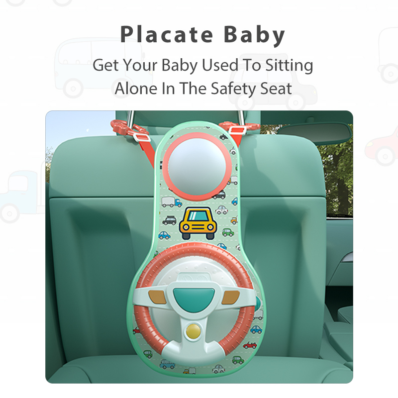 Baby Kids Eletric Simulation Steering Wheel Toy Driving Interactive Musical Educational Car Seat Back For Infant Bebe Boys Girls 3