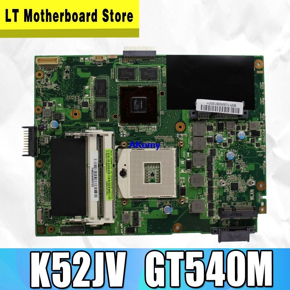 Hot Selling For ASUS K52JV REV 2.2 PGA989 GT540M HM55 N12P-GS-A1 DDR3 VRAM Laptop Motherboard K52JV 100% Fully Tested S-4
