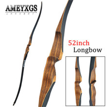 цена на 1pc 52inch 10-30lbs Longbow Hunting Recurve Bow Laminated Wood Bow Riser  Youth Shooting Training Long Bow Archery Accessories