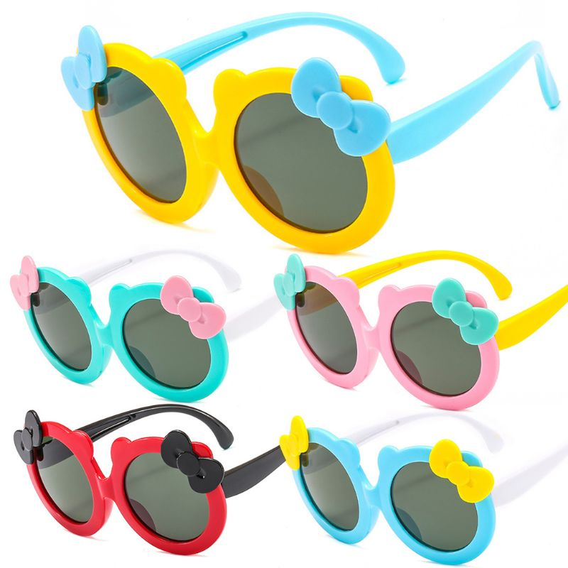 Kids Polarized Sunglasses Girls Cute Bow Knot Sun Glasses Silicone Safety UV400