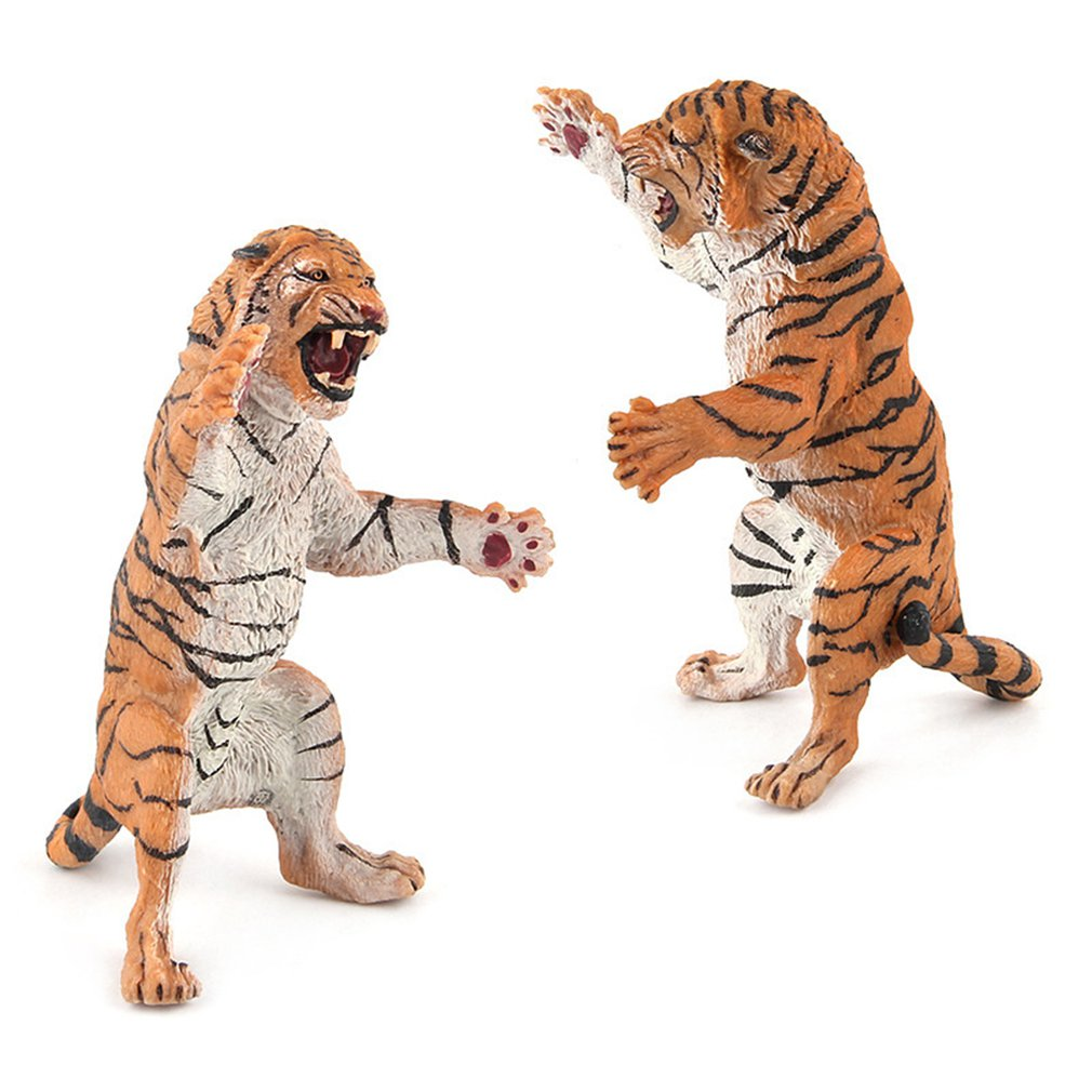 Tiger Model Cute Toys Girls Boys Birthday Gifts Creative Parent-child Interaction Creative Safety Funny