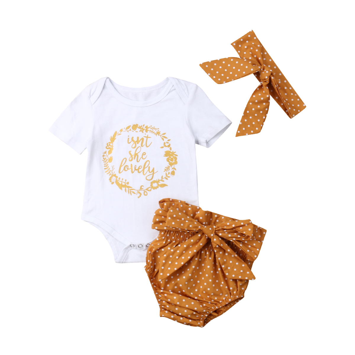 Pudcoco USPS Fast Shipping Hot Selling 0-18M Newborn Infant Baby Girls Outfit Clothes Tops Romper Jumpsuit Bodysuit+Pants Set