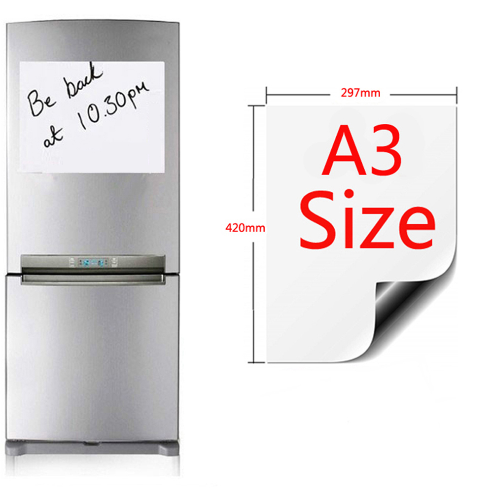 Magnet Whiteboard A3/A4/A5 Soft Magnetic Board Erase Drawing And Recording Board For Fridge Refrigerator