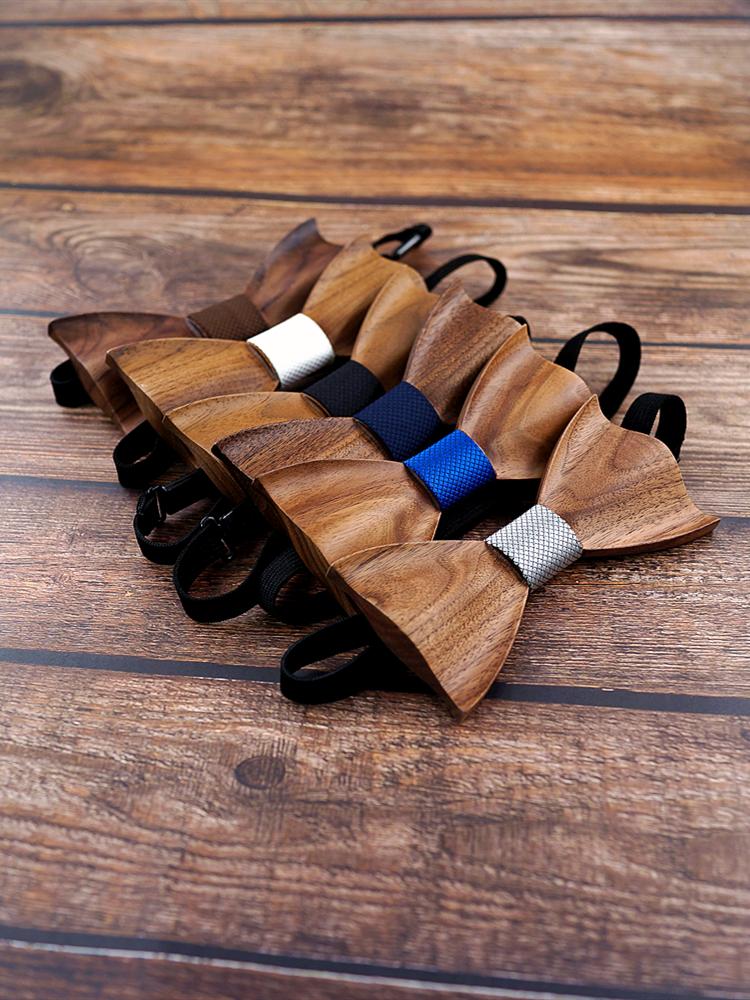 Wooden Tie Cufflinks Bow-Tie Gravata-Set Corbata Square Wedding-Dinne New-Design Fashion
