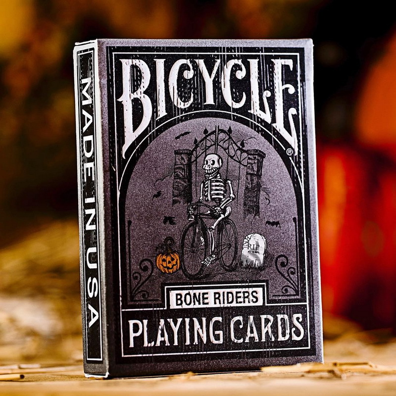Bicycle Bone Riders Playing Cards Magic Cards USPCC Limited Edition Sealed Halloween Theme Deck Collectible Poker Magic Tricks