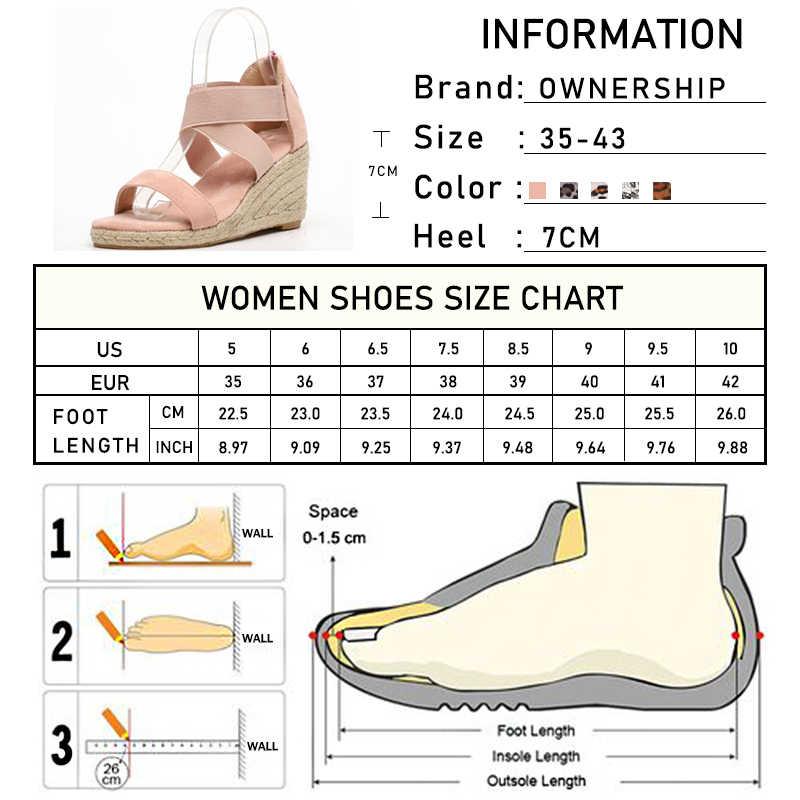 Leopard Zip Sandalen Vrouwen Wiggen 2020 Vrouwen Kruis Gebonden Vrouw Peep Toe Dames Mode Vrouwelijke Strand Schoenen Plus Size 35-43