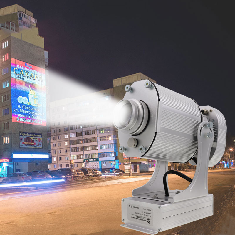 40W Outdoor Laser Logo Projector Custom For Advertising Gobo Rotation Proyector Adjustable Lens Marketing Y Publicized Hot Sale