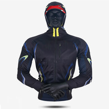 Summer Fishing Hooded Men Breathable Sun Protection Fishing Jersey Outdoor Anti-UV Quick Drying Sunscreen Fishing Shirts(China)