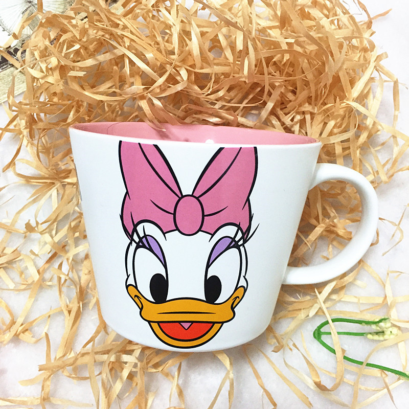 400ML Disney Mickey Minnie Cartoon Water Cup Coffee Milk Tea Ceramic Mug Home Office Collection Cup Festival Children Gifts