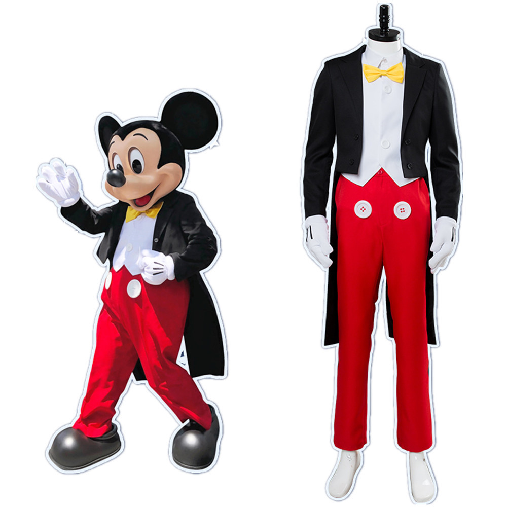Mickey Mickey Mouse Cosplay Costume Halloween Performance Costume Stage Masquerade Performance Costume For Men And Women