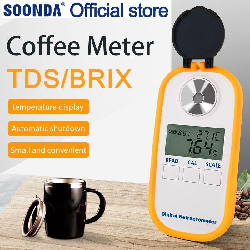 Digital Coffee Concentration Meter Tester 0-30% Coffee Sugar Meter Tds 0-25% Concentration Refractometer Coffee Refractometer
