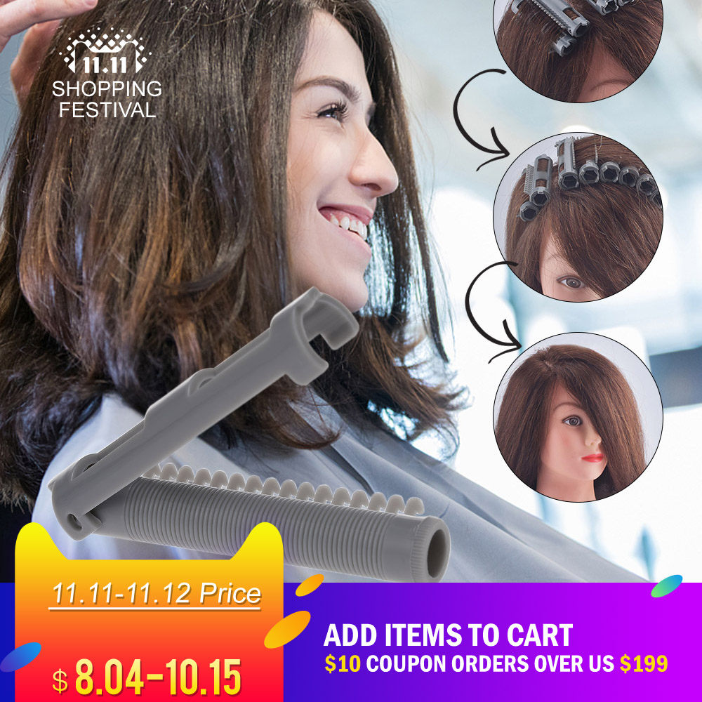 25pcs/box Fluffy Hair Cold Perm Rods Magic Air Bang Styling Bars Hair Rollers Morgan Perm Curling Curler Clips Tool Set