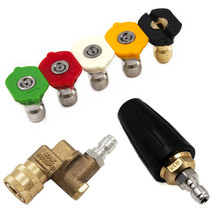 1/4″ Car Pressure Washer Accessory Turbo Nozzles Sprayer Rotray Pivoting Coupler Jet Sprayer For Quick Connector