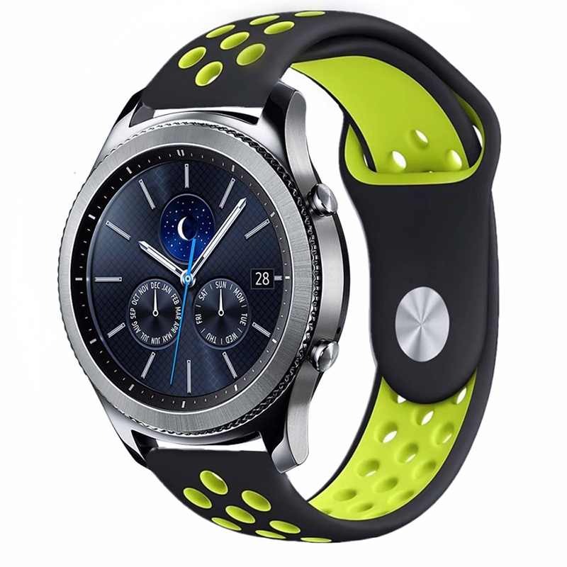 sport Silicone strap Gear S3 For Samsung Galaxy watch 46mm active 42mm gear S2 huawei watch GT Strap 22 20mm watch band Bracelet