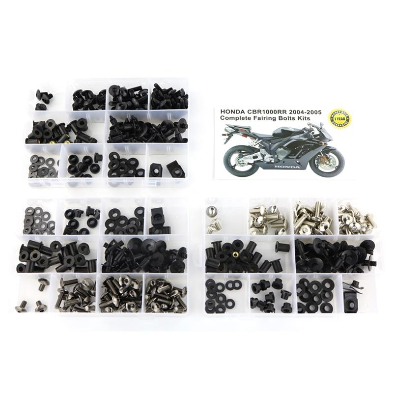 Подходит для Honda CBR1000RR CBR 1000RR 2004 2005 мотоциклетные полный обтекатель Болты Комплект зажимы шурупы шайба крепежа