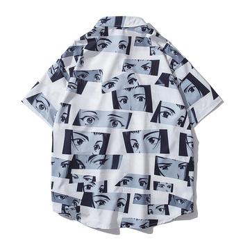 Ciemna ikona pełny nadruk hawajskie koszule męskie letnia koszulka Polo mężczyzna Streetwear człowiek bluzka tanie i dobre opinie dark icon CN (pochodzenie) POLIESTER KOSZULE CODZIENNE krótkie Wykładany kołnierzyk Jednorzędowe REGULAR DI5225TD Z popeliny