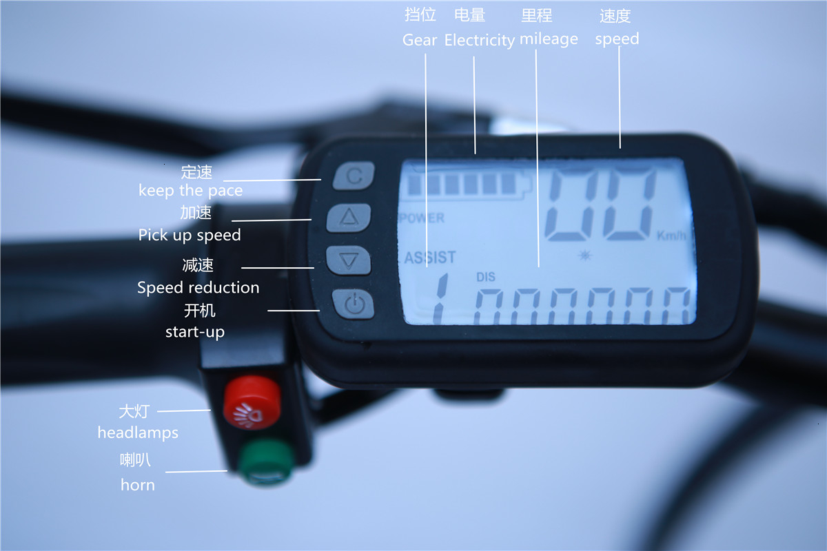 Stock & Russia Europe 20'' Electric Folding Bike 48V Motor 7 Speed gears E-Bike Front Rear Disc Brake Magnesium Alloy Wheel 3