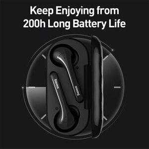 Image 4 - Baseus W07 TWS kablosuz Bluetooth kulaklık V5.0 kablosuz spor kulaklık ENC gürültü azaltmak konuşan su geçirmez kablosuz kulaklık