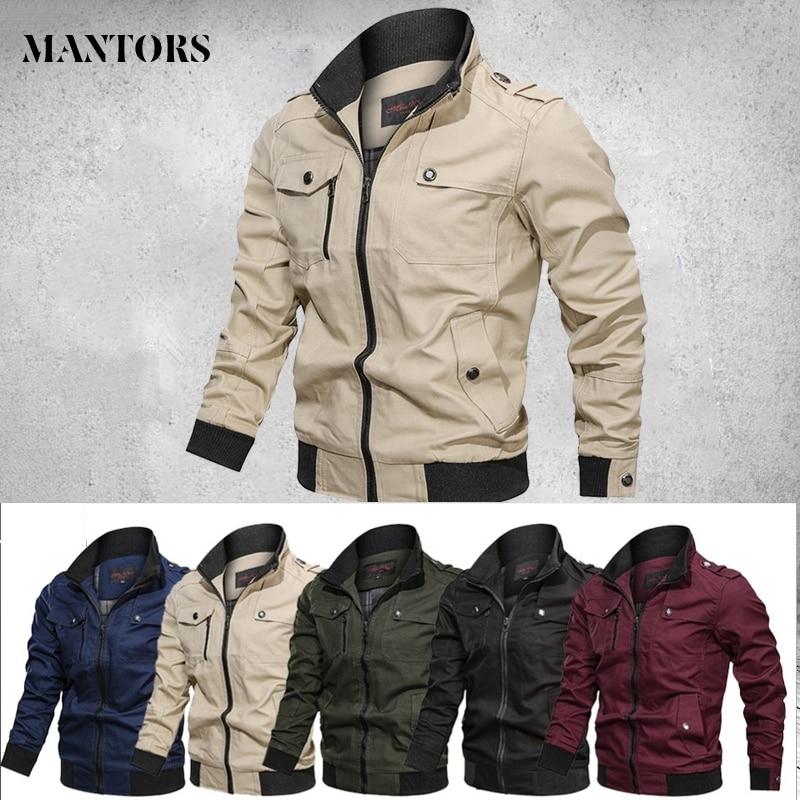 2020 Jacket Men Spring Autumn Cotton Windbreaker Pilot Coat Men's Bomber Jackets Cargo Flight Jacket Male Clothes Plus Size 4XL