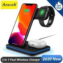 Araceli – chargeur sans fil Z5A 15 W, multifonction, 3 en 1, pour téléphone portable, casque de montre intelligente