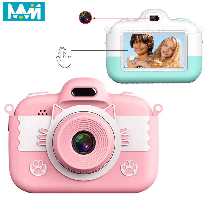 Kids Mini Children Camera Camera 3.0'' 18MP Full HD Digital Camera <font><b>With</b></font> Silicone Case <font><b>LCD</b></font> Screen Display For Christmas Gift To image
