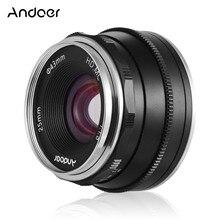 Andoer lente de enfoque Manual para cámaras Canon, apertura grande de 25mm F1.8 para cámaras Canon M1/ M2/ M3/ M5/ M6/ M10/ M100/ M5 0 EOS m mount