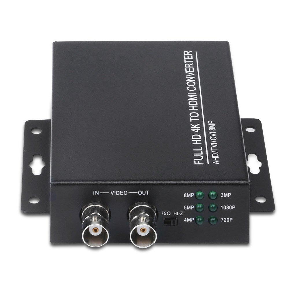 Hd Bnc Video Converter Auto Recognition 4K 1080P TVI 8MP AHD 5MP CVI CVBS To HDMI Converter For Camera CCTV Tester Converter
