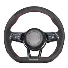 Hand Sew Black Suede Car Steering Wheel Cover for Audi TT (8S) 2014-2019 TTS RS 2016-2019 R8 (4S)