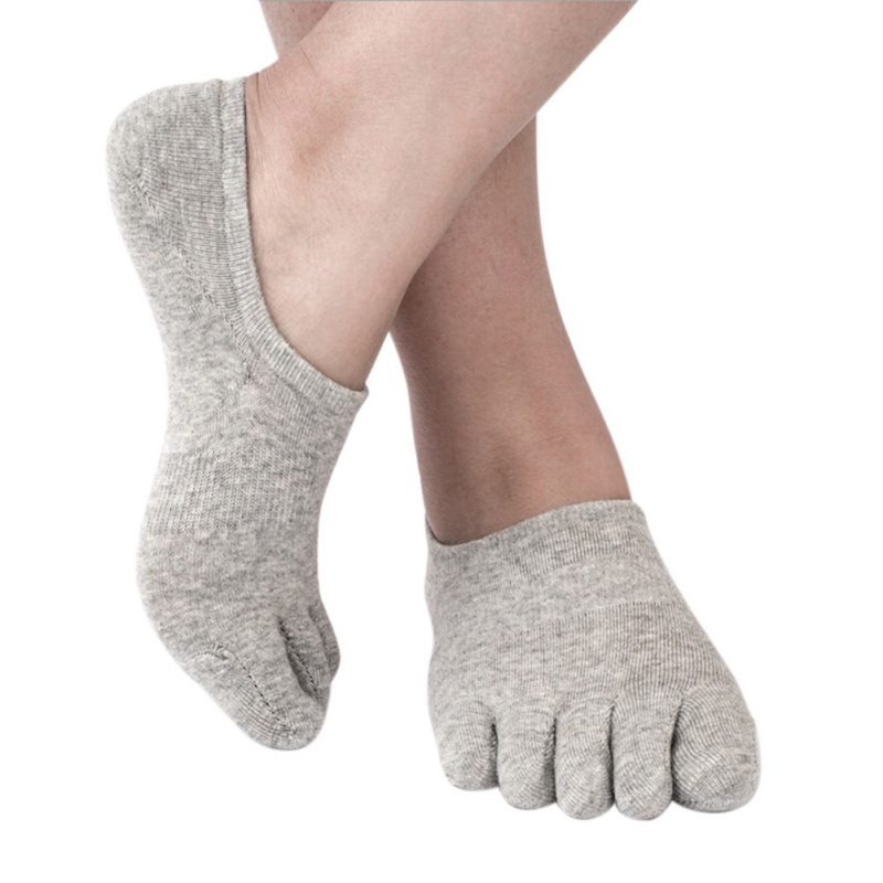 Sport Socks Stealth Five Fingers Socks Male Cotton Spring And Summer Solid Color Socks Sweat Sweat Deodorant Toe Socks