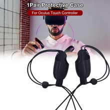 1 Pair Protective Cover Sleeve for Oculus Rift S/Oculus Quest VR Headset Anti-Skid Handle Grips 2019 new russia vr headset rack display holder stand for oculus rift s oculus quest vr headset and touch controllers