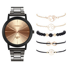 ECONOMICXI Popular Quartz Watch Luxury Bracelet Gemstone Bracele Bracelet for Women's Watch Women Watches Clock(China)