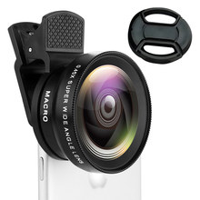 2 in 1 Lens 0.45X Wide Angle and Macro Len Professional HD Phone Camera Lens