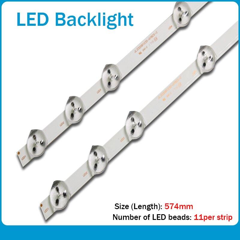 2pcs X 32 Inch LED Backlight For LG Sh-arp 32'' TV 32D1334DB LC32LD145K VES315WNDL-01 VES315WNDS-2D-R02 HA5000 VESTEL 574mm