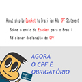 KEYYOU About ship by Epacket to Brazilian Add CPF Statement