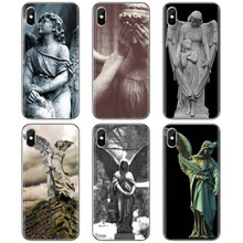 For ZTE Blade A520 A512 A452 A602 A5 2019 V6 V7 V8 V9 V10 Lite Viat Cool Silicone Phone Case Spiritual Dreamy Angel statue Print(China)