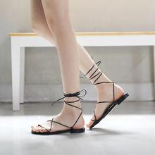 Новинка 2020 римские сандалии с перекрестными ремешками в Корейском