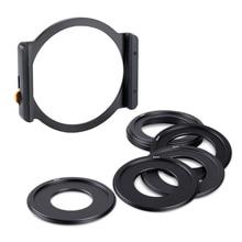 K & F مفهوم مهايئ المرشح خواتم 49 مللي متر 52 مللي متر 58 مللي متر 62 مللي متر 67 مللي متر 72 مللي متر 77 مللي متر 82 مللي متر المعادن ساحة تصفية حامل ل DSLR ILDC كاميرا عدسة