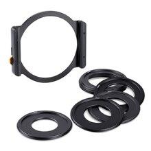 K&F CONCEPT Filter Adapter Rings 49mm 52mm 58mm 62mm 67mm 72mm 77mm 82mm Metal Square Filter Holder for DSLR ILDC Camera Lens