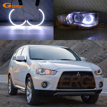 цена на Excellent Ultra bright COB led angel eyes kit Car styling For Mitsubishi Outlander II 2010 2011 2012 Xenon headlight