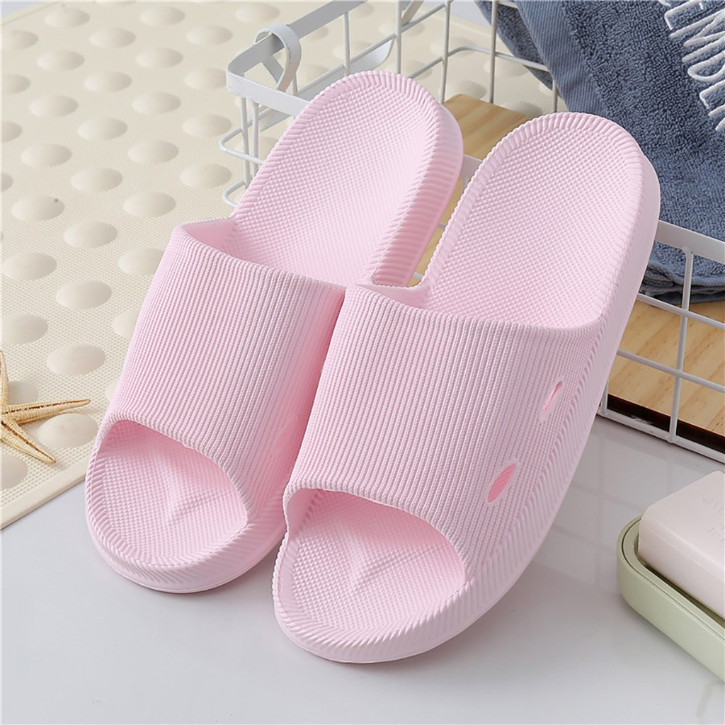 Women's home slippers Soft Comfortable Ultra Lightweight sandals Non-slip Shower Pool Bath Slipper indoor Flip Flops