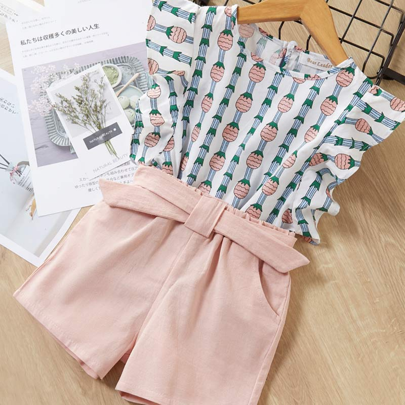 Hf4f41672224d4af598a23e4825a0b461N Melario Kids Girls Clothing Sets Summer Baby Girls Clothes T-Shirt and Jeans Shorts Suit 2Pcs Children Clothes Suits