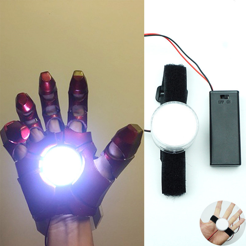 DIY Controlled Light LED Light FOR 1:1 Iron Man Tony Stark Glove Palm Lights Hand Led Lamp Accessories Halloween Cosplay Props