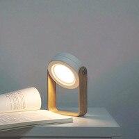 Luz de lectura para dormitorio retráctil, lámpara de escritorio Led plegable, linterna portátil con mango de madera para tienda de campaña de emergencia