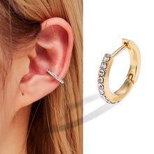EN Fashion – boucles d'oreilles Punk Rock géométriques pour femmes, sans Piercing, Vintage, couleur argent, unisexe, 2020