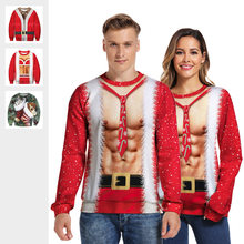 2019 Ugly Christmas Sweaters Men/Women Vacation Santa Elf Pullover Unisex Funny Women's Pull De Noel Tops Autumn Winter Clothes(China)