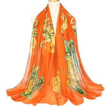 Women Ethnic Style Scarf and Wraps Pretty Printed Shawl