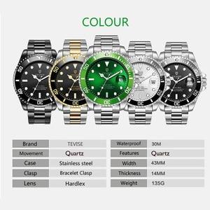 Image 5 - Hot Verkoop 2020New Tevise Quartz Heren Horloge Automatische Datum Fashion Luxe Sport Horloges Rvs Klok Relogio Masculino