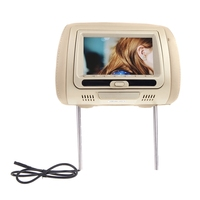 7 Inch Car Universal Headrest Dvd Nonitor Mp5 Hd Player Usb Lcd Car Pillow Display Beige